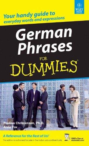 9788126507207: GERMAN PHRASES FOR DUMMIES