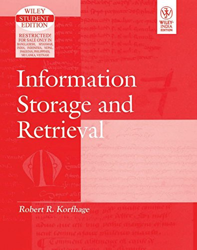 9788126507702: Information Storage and Retrieval