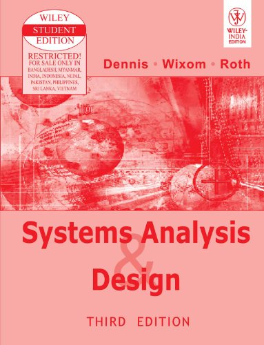 9788126508808: Systems Analysis and Design