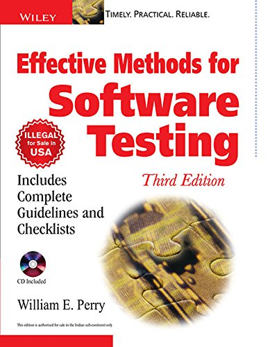 9788126508938: Effective Methods for Software Testing