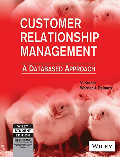 9788126509133: Customer Relationship Management: A Databased Approach