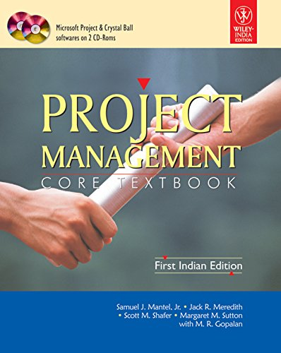 Project Management: Core Text Book: Jack Meredith,M.R. Gopalan,Samuel