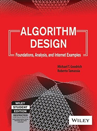 9788126509867: Algorithm Design: Foundations, Analysis and Internet Examples