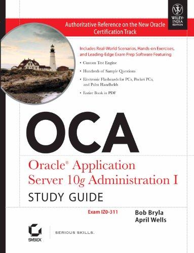 9788126509942: Oca: Oracle Application Server 10G Administration I Study Guide