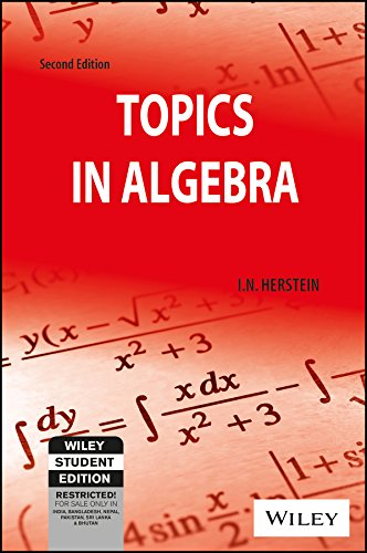 9788126510184: TOPICS IN ALGEBRA ( 2nd Ed.)