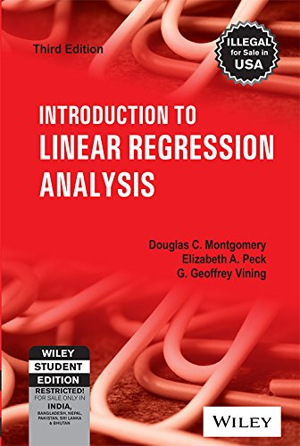 9788126510474: Introduction to Linear Regression Analysis, 3rd Edition