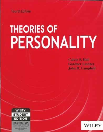 9788126510924: THEORIES OF PERSONALITY, 4TH EDITION