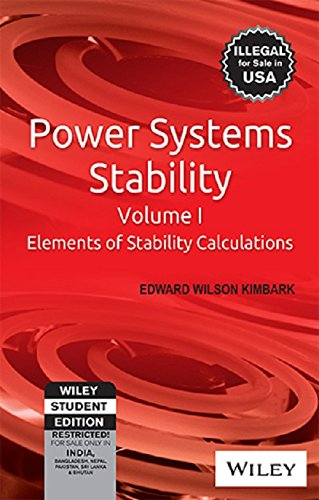 Power Systems Stability Elements Of Stability Calculations: Kimbark E.W