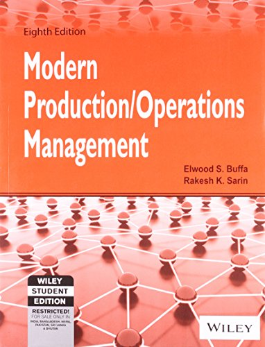 Modern Production / Operations Management, 8Th Ed: Buffa, Sarin