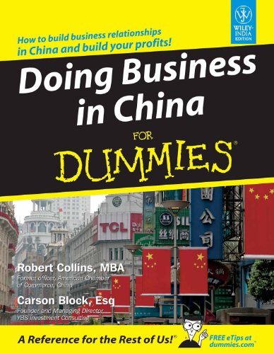 9788126514120: DOING BUSINESS IN CHINA FOR DUMMIES