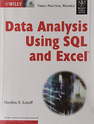 9788126514885: DATA ANALYSIS USING SQL AND EXCEL