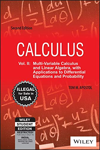 9788126515202: CALCULUS, VOLUME II, 2ND ED