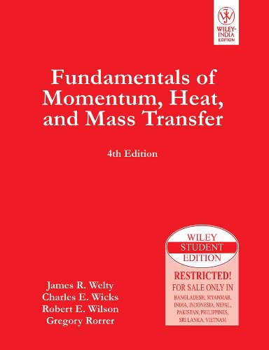 9788126515264: Fundamentals Of Momentum, Heat And Mass Transfer