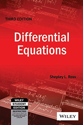 9788126515370: Differential Equations, 3ed