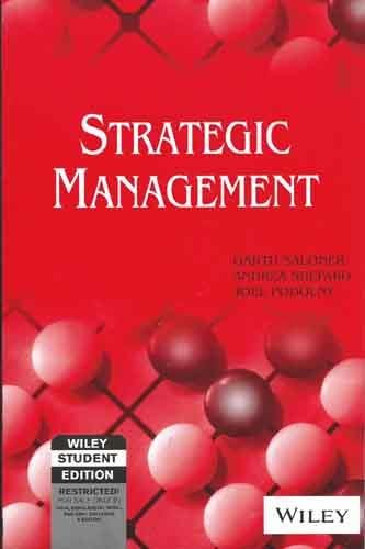 9788126515684: STRATEGIC MANAGEMENT (WILEY STUDENT EDITION)