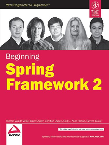 Beginning Spring Framework 2: Thomas Van De Velde,Sing Li,Naveen Balani,Christian Dupuis,Bruce ...