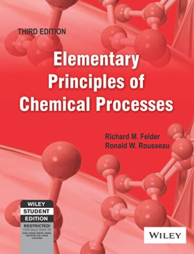 9788126515820: Elementary Principles of Chemical Processes