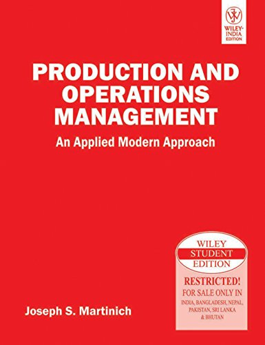 9788126516094: Production And Operations Management: An Applied Modern Approach