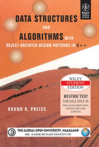 9788126516438: DATA STRUCTURES AND ALGORITHMS WITH OBJECT- ORIENTED DESIGN PATTERNS IN C++ 1 EDITION