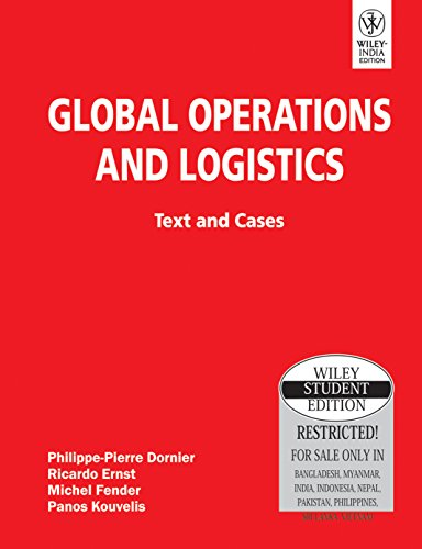 9788126516841: Global Operations And Logistics: Text And Cases