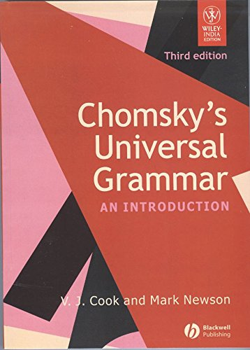 CHOMSKYS UNIVERSAL GRAMMAR : AN INTRODUCTION 3/ED: COOK