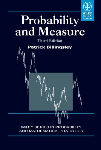 9788126517718: Probability and Measure, 3rd ed.