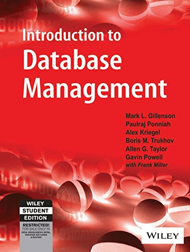 9788126517961: Introduction To Database Management