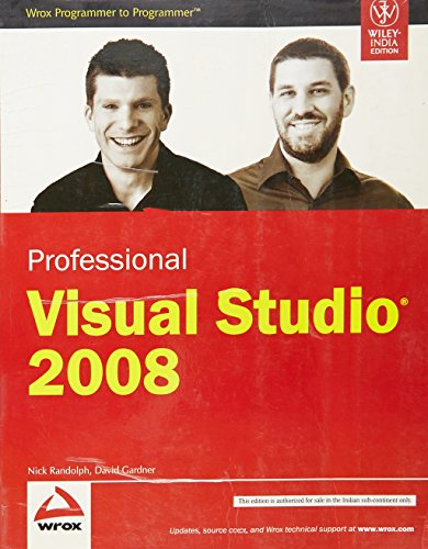 9788126518197: Wiley India Pvt Ltd Professional Visual Studio 2008