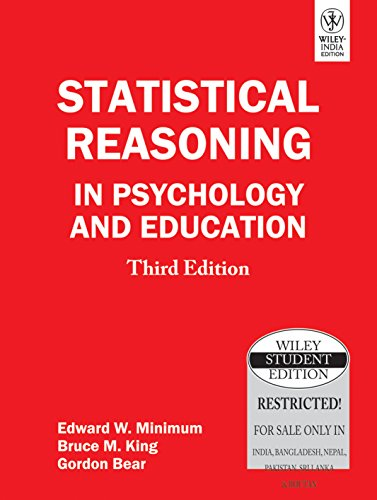 9788126518265: Statistical Reasoning in Psychology and Education, 3ed