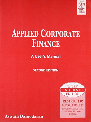 9788126518517: Applied Corporate Finance: A User'S Manual, 2Nd Ed