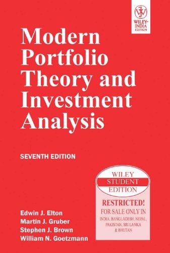 9788126518654: Modern Portfolio Theory and Investment Analysis
