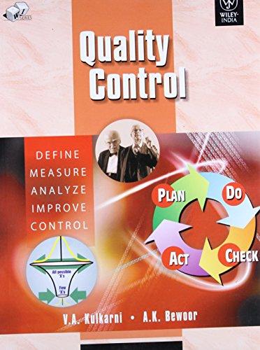 Quality Control: V.A. Kulkarni, A.K.