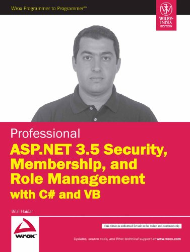 9788126519163: Professional ASP.NET 3.5 Security, Membership, and Role Management with C# and VB