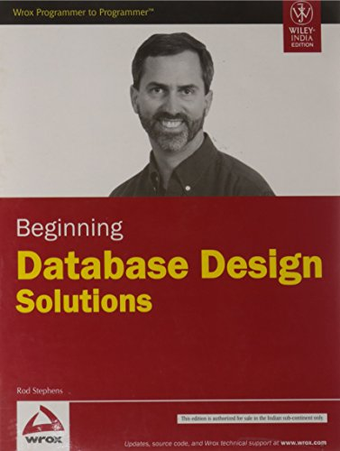 9788126519170: Beginning Database Design Solutions