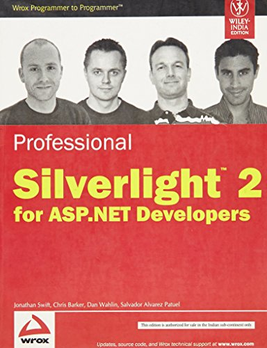 9788126520305: Professional Silverlight 2.0 for Asp.net Developers