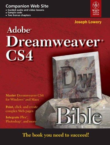 9788126520985: Adobe Dreamweaver CS4 Bible