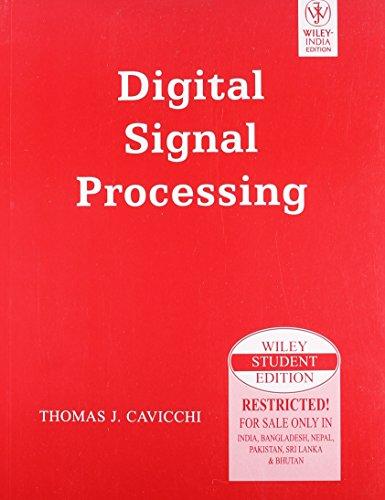 9788126521098: Digital Signal Processing