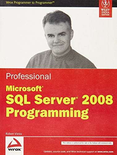 9788126521340: Professional Microsoft Sql Server 2008 Programming