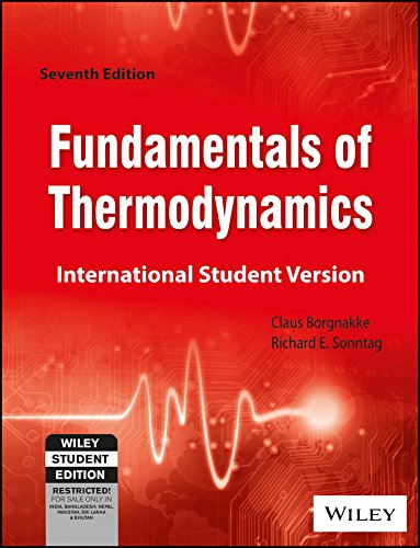 Fundamentals Of Thermodynamics, 7Th Edn: Claus Borgnakke And