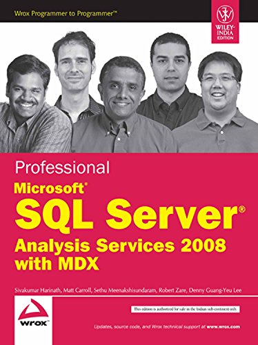 9788126521777: Professional Microsoft Sql Server Analysis Services 2008 With Mdx