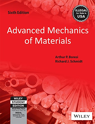 9788126522163: Advanced Mechanics of Materials (International Edition) Edition: Sixth