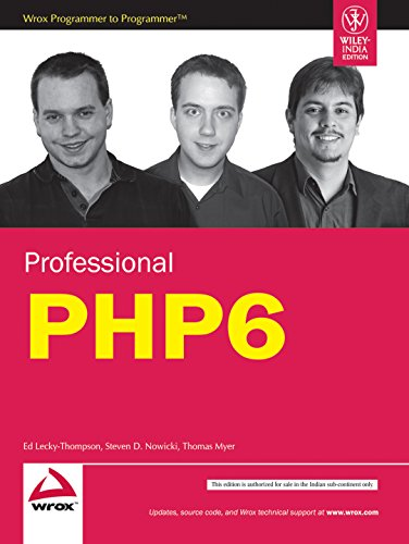 9788126522491: Professional PHP6 [Paperback] by Ed Lecky-Thompson; Steven D. Nowicki; Thomas...