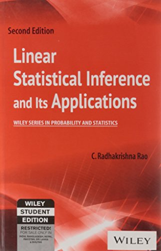 9788126523511: Linear Statistical Inference And Its Applications, 2Nd Ed