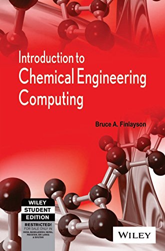 9788126524891: Introduction to Chemical Engineering Computing