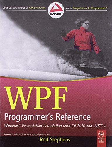 9788126525942: WPF Programmer's Reference: Windows Presentation Foundation with C# 2010 and .NET 4