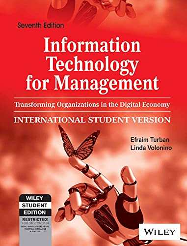 9788126526390: Information Technology for Management: Transforming Organizations in the Digital Economy