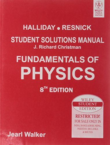9788126526482: [ Fundamentals of Physics, Student Solutions Manual ] By Halliday, David ( Author ) [ 2010 ) [ Paperback ]