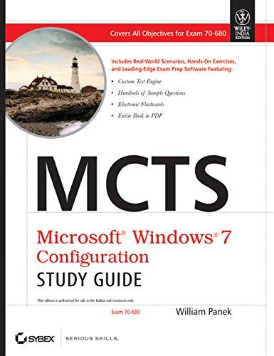 9788126526567: Mcts Microsoft Windows 7 Configuration Study Guide: Exam 70-680