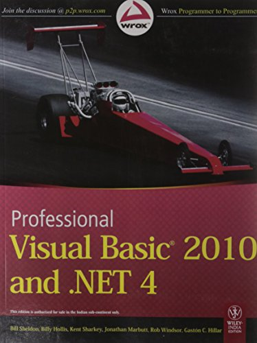 9788126526680: PROFESSIONAL VISUAL BASIC 2010 AND .NET 4