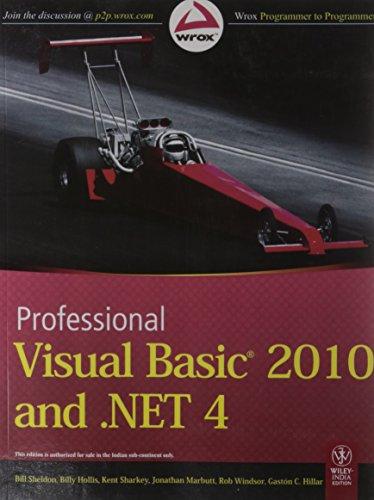 9788126526680: Professional Visual Basic 2010 And .Net 4